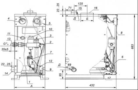 1. Газогорелочное устройство